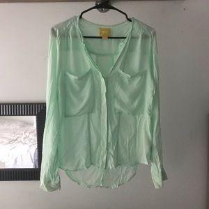 Maeve- Mint Green Long Sleeve Top